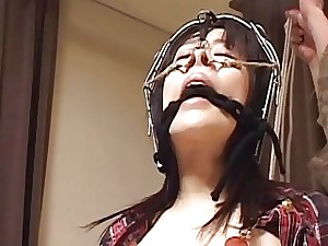 Subtitles bizarre Japanese nose hook BDSM slapping
