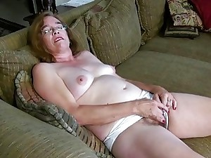 USAwives Old Grandma Carmen Fur covered Pussy Fingering