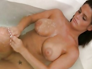 Busty Nude Wifey Filmed In Shower