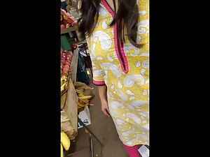 Indian Woman Spied In Market