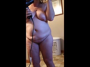 My Sexy Plus-size Blow Drying Her Hair