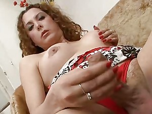 Camila Horny Redhead Shemale Playing With Her Pecker