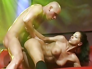 young big-titted fucky-fucky on public stage