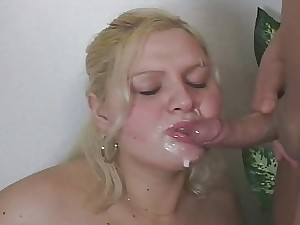 Immense Gal Nurses A Stud And His Buddy Real Good